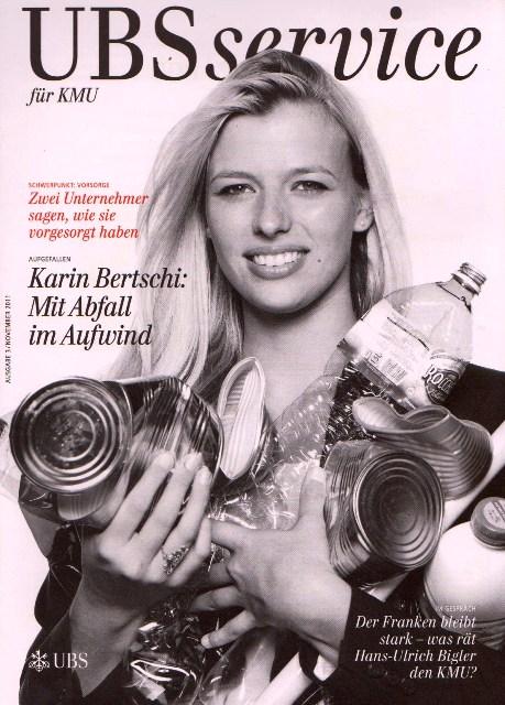 Признание Карин Берчи и поддержка ее Проекта UBS банком Швейцарии