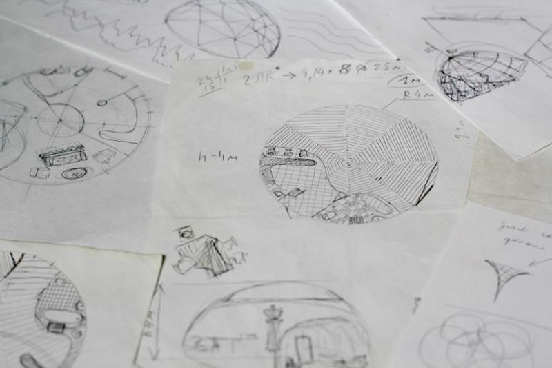 План строительства купольного дома