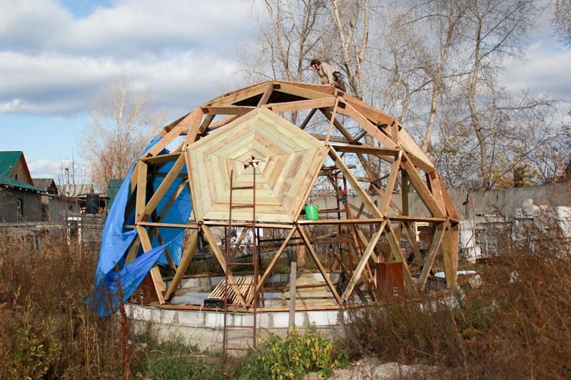Строительство купольного дома своими руками 60